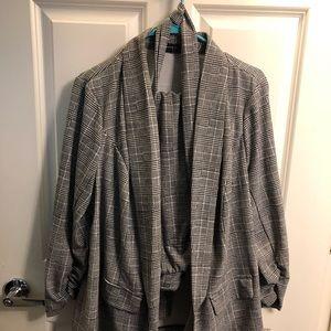 Fashion to Figure Two-Piece Plaid Suit